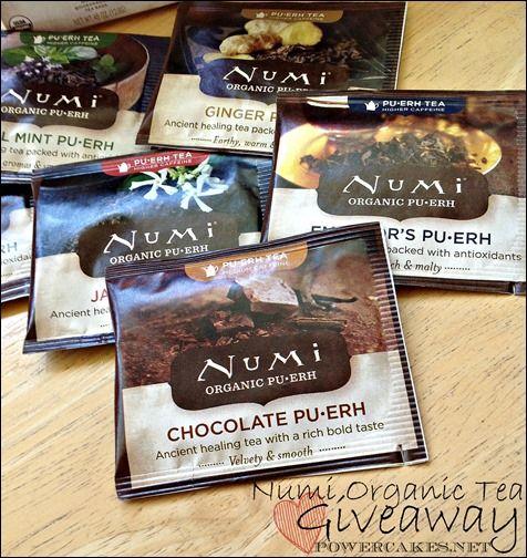 Numi Organic Tea Giveaway! #Mondaygiveaway #Powercakes #NumiTea @Numi Organic Tea