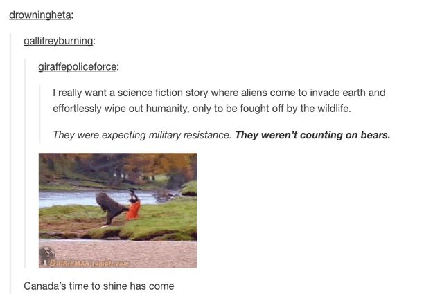 Or a science fiction story about aliens invading earth. | 36 Reasons Tumblr Was The Best Site In 2014