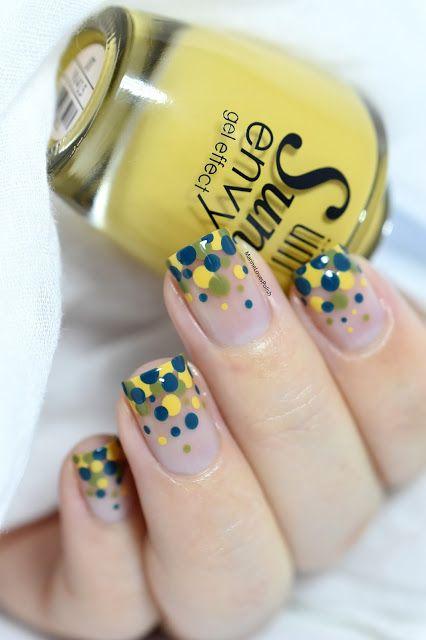 Confetti Nail Art Giveaway! [VIDEO TUTORIAL] - dotticure - negative space - carniva nail art