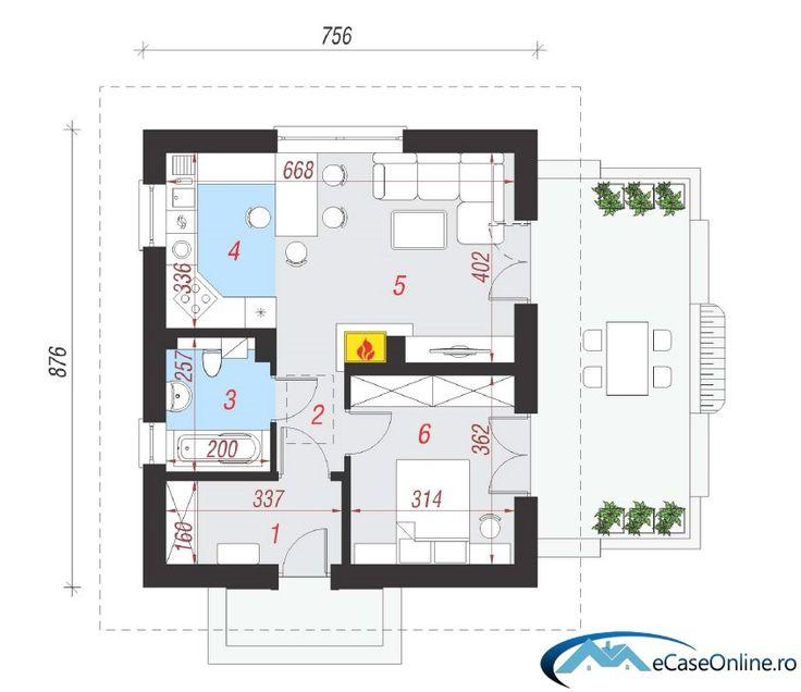 Captivating Proiecte De Casa Cu O Camera Small One Room House Plans 7