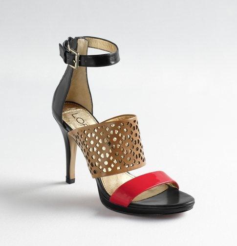 Loving these ATL heelsLoft Belmont, Belmont Heels, Metals Cushions, Covers Heels, Cushions Footbed, Colors Block, Block Heels, Anne Taylors, Red Black