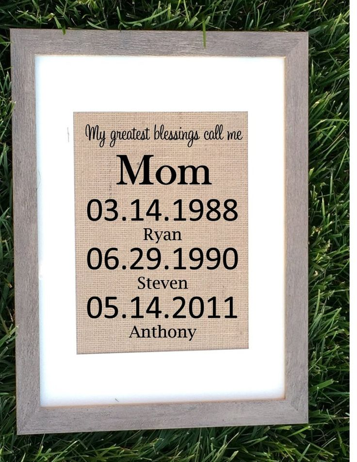 Burlap My Greatest Blessings Call Me Mom Family Giftsmom Giftssentimental