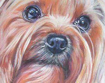 Yorkshire Terrier Dog Painting Dog Portrait Dog by RenateDiroll