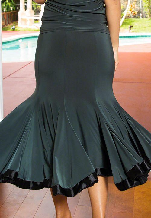 Dance America S506 - 8 Panel Banded Silhouette Latin Skirt| Dancesport Fashion @ DanceShopper.com