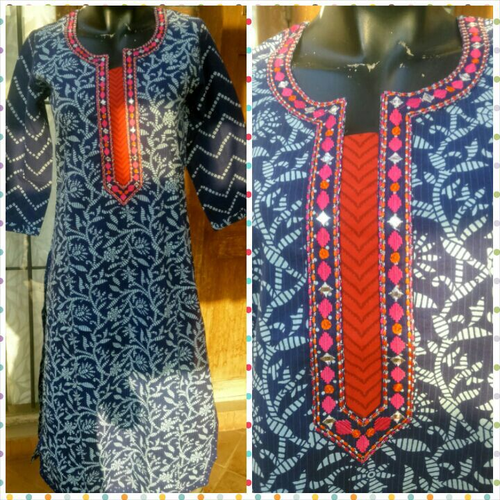 Cotton Kurti for this summer!! Buy at www.facebook.com/beigebliss