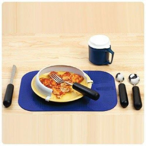 Weighted Dining Kit  Convenient kit has products specifically chosen to help assist patients become independent while eating. Especially designed for those with #Parkinson's Disease or other tremor or #incoordination conditions. Includes an EZ Large Grip #Weighted #Utensil #set (9206-79)...