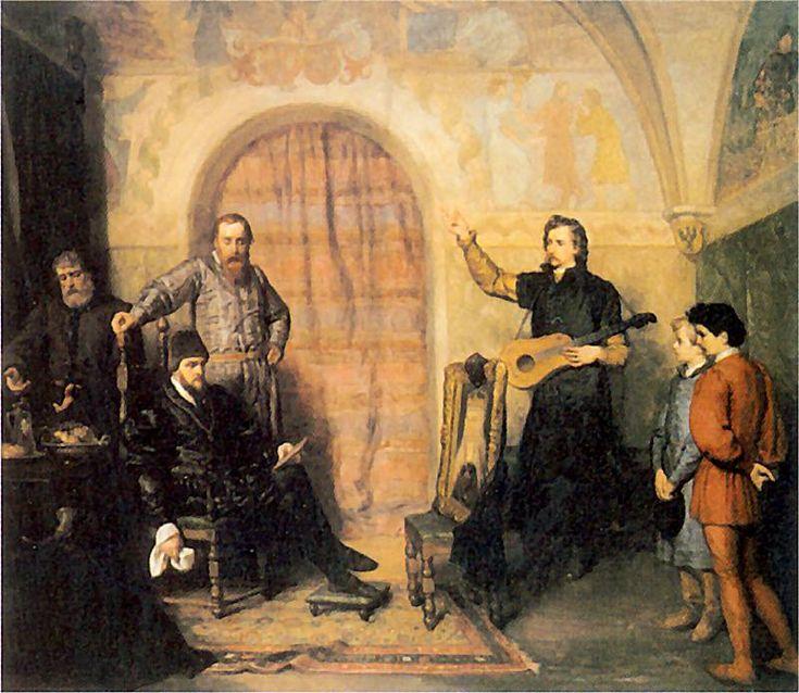 King Sigismund August - a widower by Wojciech Gerson