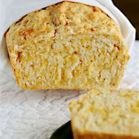 Cheddar cheese bread. Its in the bread machine right now. I hope it turns out. I did add garlic.