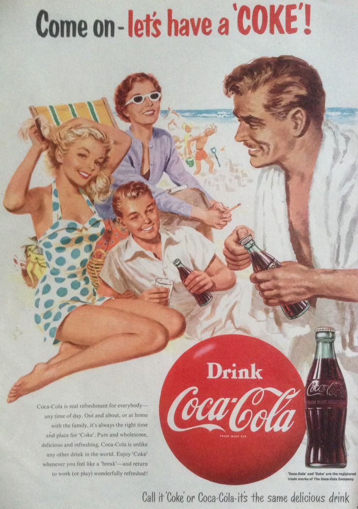 Coca-Cola advert 1954