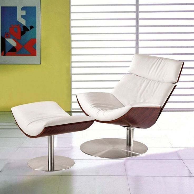 Contemporary Lounge Chair and Ottoman | dotandbo.com #DotandBoDream