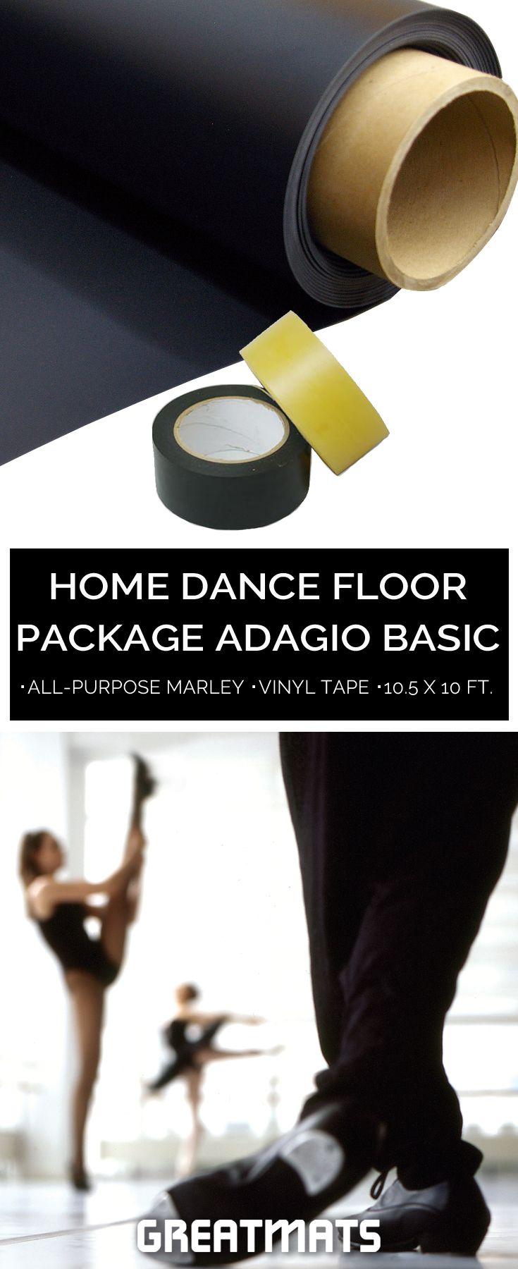 Home Dance Floor Package Adagio Basic 10 5x10 Ft Home Dance Dance Rooms Dance Floor