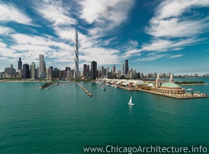 The proposed Chicago Spire