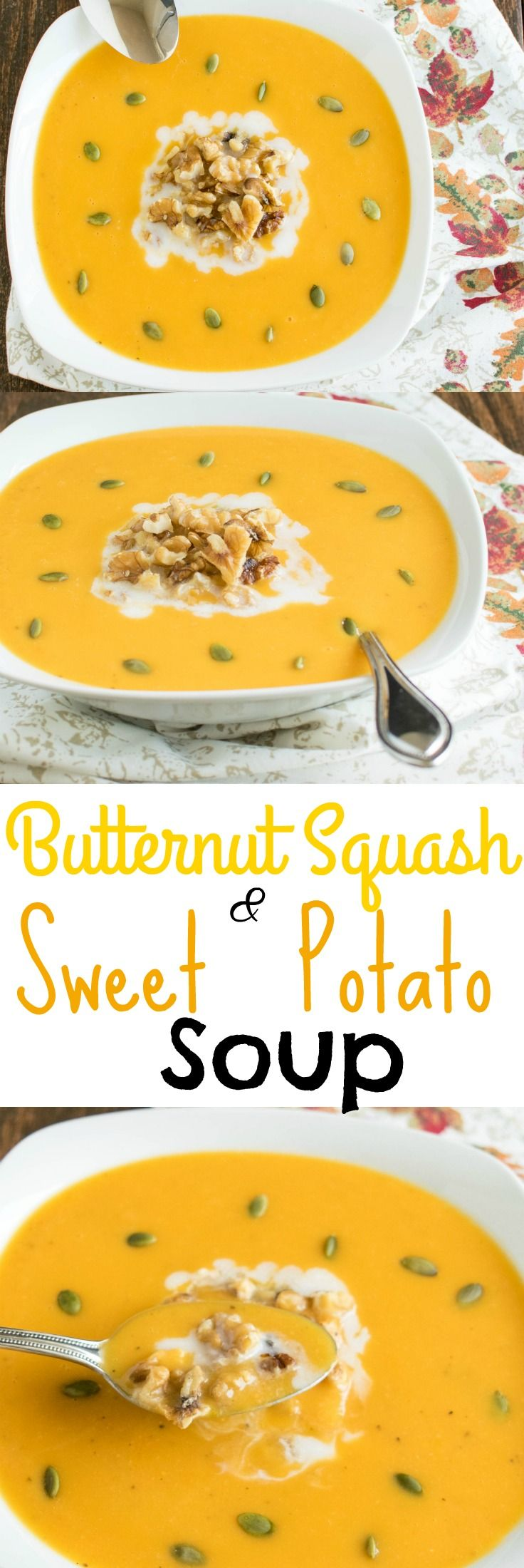 Butternut Squash and Sweet Potato Soup - with very few ingredients this vegan paleo soup is a perfect wholesome dish for those cold and busy nights | kiipfit.com (Vegan Paleo Casserole)