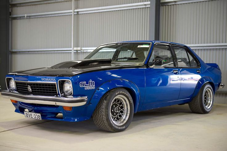 Australian Holden Torana SLR/5000. These muscle cars are not as big as you'd think, they're only a small car compared to the huge Ford XA/XB series of the same era..