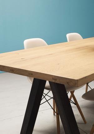 Tables sur-mesure en bois ancien - La Parqueterie Nouvelle
