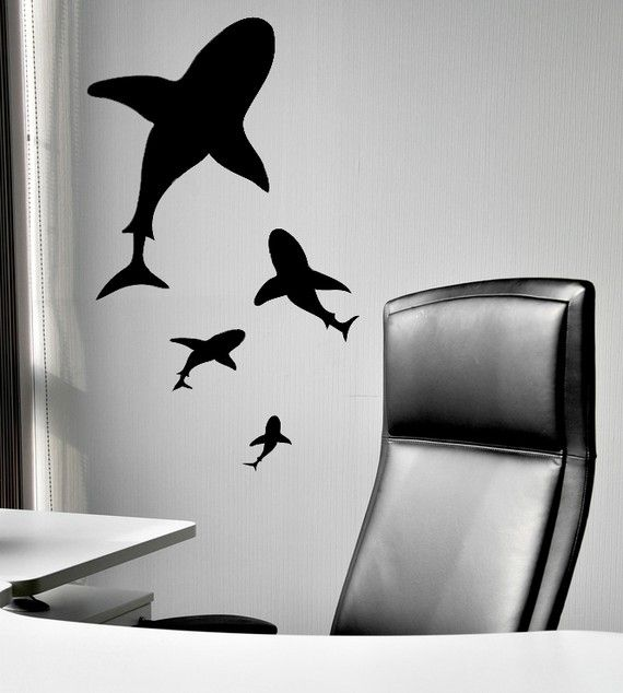Shark  Bellies Great White  Vinyl Decal by VinylWallAccents, $35.00