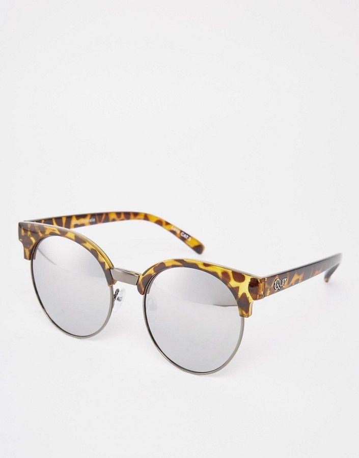 QUAY AUSTRALIA Quay Highly Strung Round Half Frame Sunglasses