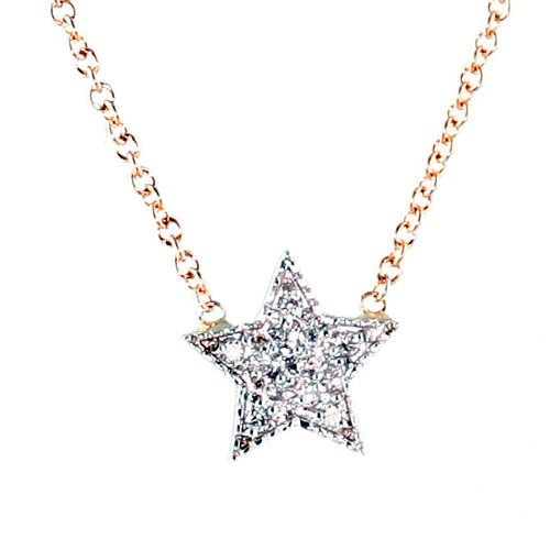 Charlotte Lu Rose Gold Diamond Star: Nothing shines brighter than a star made of diamonds