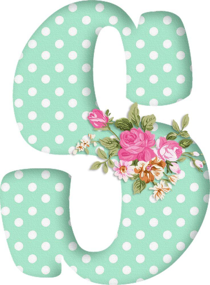 PAPIROLAS COLORIDAS: Abecedario con flores. Letras mayúsculas verdes, puntos blancos. Letra S.