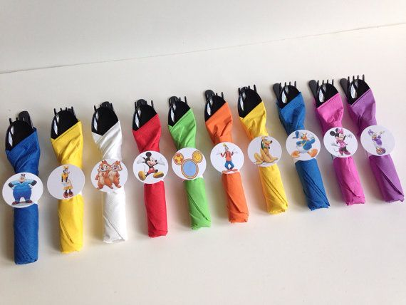 Mickey Mouse Clubhouse Birthday Party Cutlery by AlishaKayDesigns