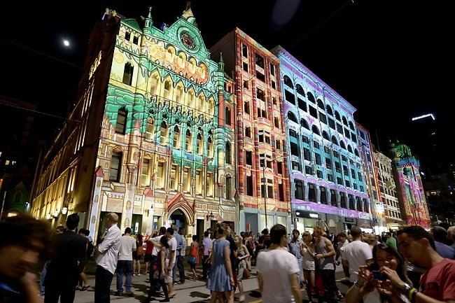 The Electric Canvas   White Night Melbourne.