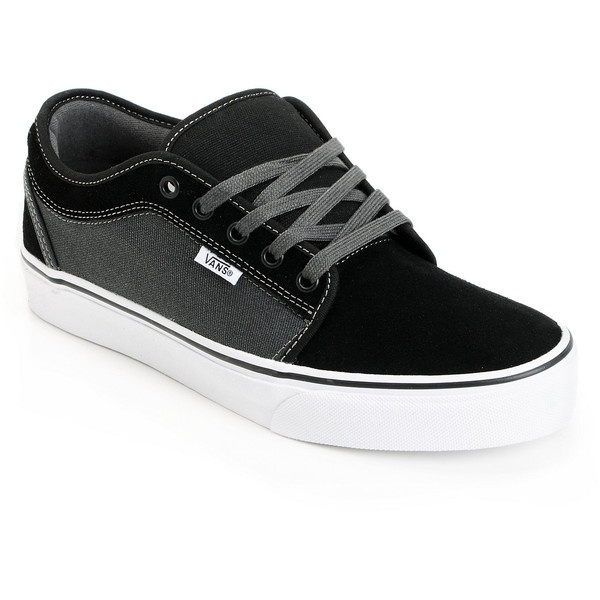 Vans Chukka Low Black Dark Slate Skate Shoe ($60) ❤ liked on Polyvore