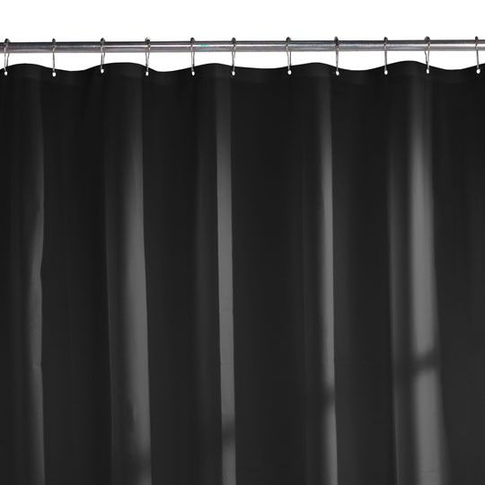 24 gauge peva shower curtain liner black 299