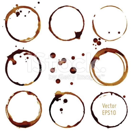 Vector coffee cup stains royalty-free vector art illustration