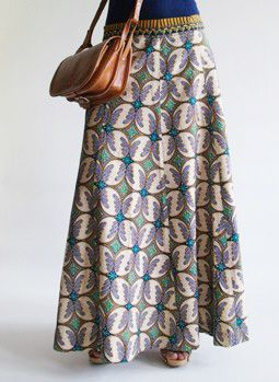 Vintage 1960s ethnic Batik maxi skirt @ www.secondhandnew.nl