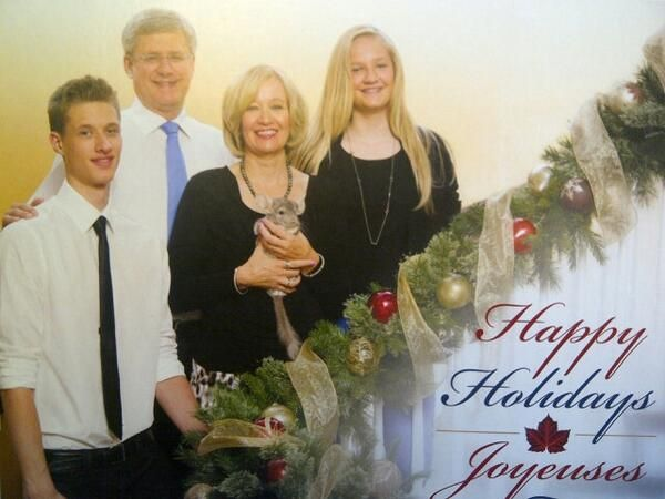 Prime Minister Stephen Harper & Family + A CHINCHILLA!