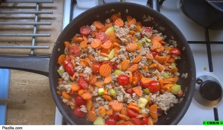 gehakt met groenten en bloemkoolpuree, pascale naessens