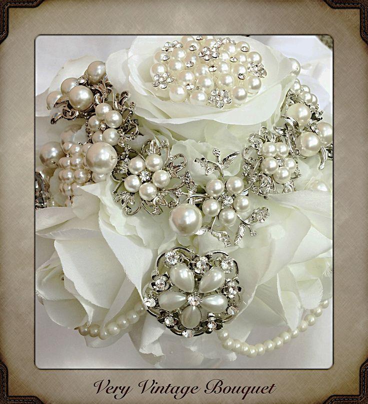 Very Vintage brooch bouquet  www.facebook.com/LittleMissGlitterbug