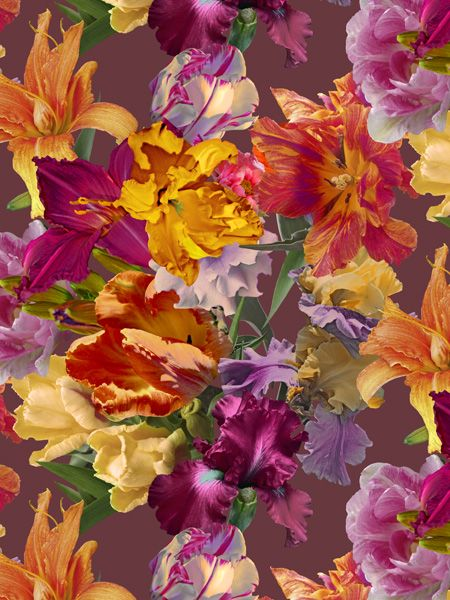 Rapport design The bouquet of tulips - www.surfacesdesign.ru