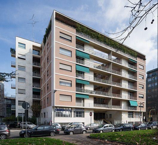 Milano, corso Sempione: Casa Rustici (Giuseppe Terragni, Pietro Lingeri, 1933-35)
