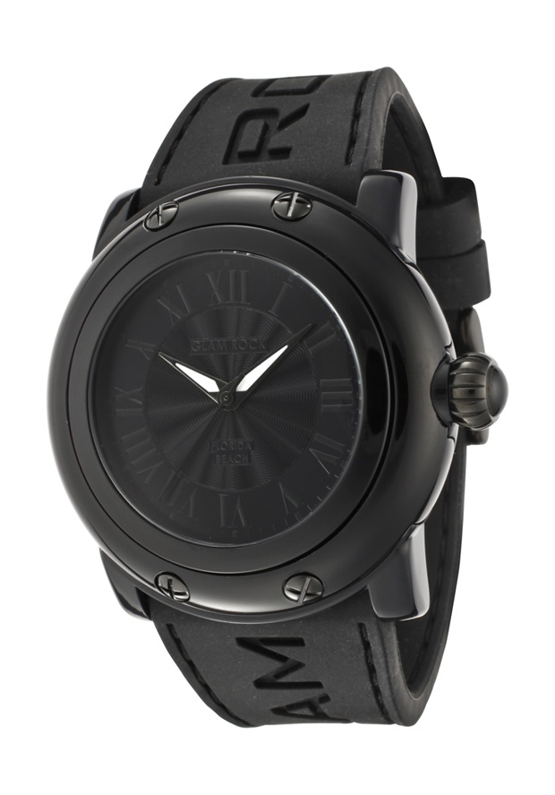 Price:$74.00 #watches Glam Rock GW25056, Add an understated look to your outfit with this unique and detailed Glam Rock watch. This timepiece offers a silver guilloche dial in a stainless steel case.