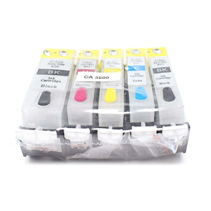 Refillable Non OEM ink cartridges for Canon IP3600 IP4600 IP4700 MP540 MP550 MP560 MP620 MP630 MP640 MP980 MP990 MX860 WITHOUT INK