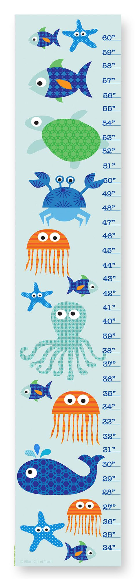 Features: -Material: MDF (Wood). -Ready to hang out of the box. -Perfect gift or great way to watch your child grow for years to come. -Made in the USA. Product Type: -Growth chart. Theme: -Naut