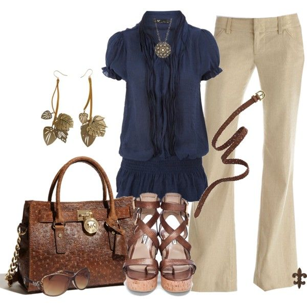 Work Outfit: Shoes, Work Clothing, Woman Fashion, Blue, Design Handbags, Cute Outfits, Fashionista Trends, Work Outfits, The Navy