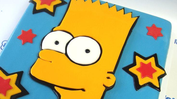Bart Simpson Cake / Návod na dort s Bártem