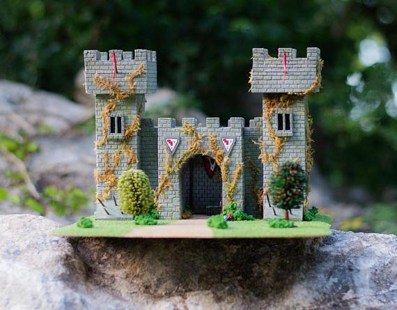 The Castle Wargaming Terrain RPG Warhammer Custom. Made by Tribalwish Hobbies.