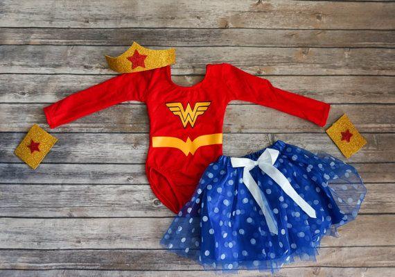Leotard, Size 12 M +, Infant, Toddler Leotard, Wonder Woman, Superhero, Toddler, Superhero Costume, Tutu, Crown, Toddler Halloween Costume