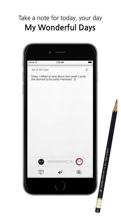 My Wonderful Days Lifestyle Productivity iPhone App