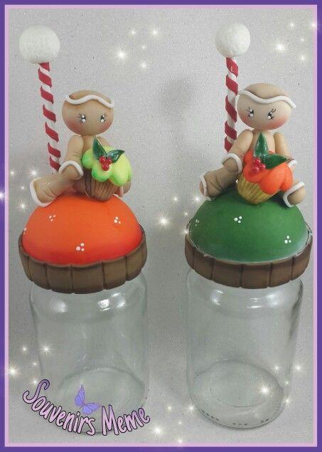 17 best images about navidad pasta flexible christmas for Frascos decorados para navidad