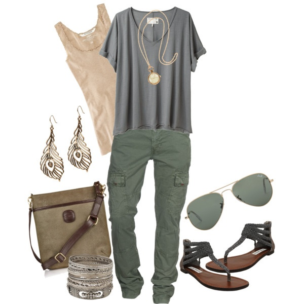cargo pants, created by bonnaroosky.polyvore.com