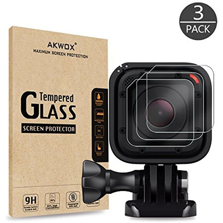 Tempered Glass Screen Protector For Gopro Hero 4 Session 5 Session (Pack Of 3)  #Akwox