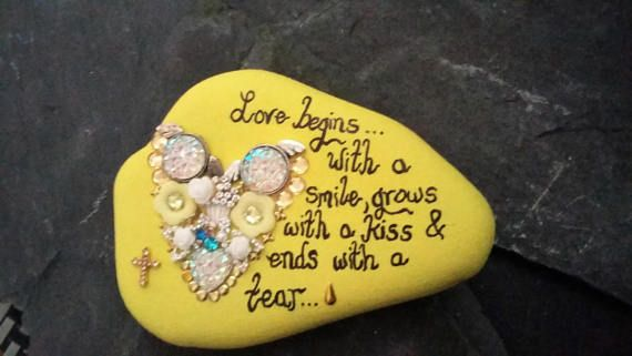 Bereavement painted ornamentmemorial by Pebbles4Thought on Etsy