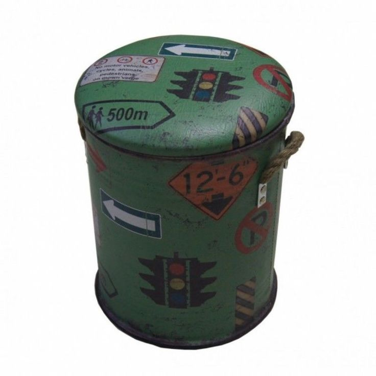 Home Modern Stool Seat Chair Living Room Box Storage Metal Green Decor Furniture #HomeModernStool #Modern