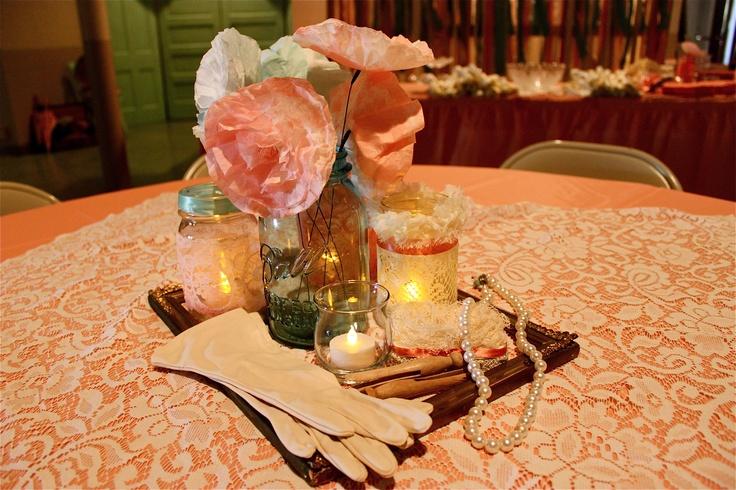 Vintage party decorations table decorations vintage - Deco table retro ...