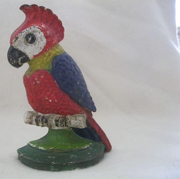 Vintage Parrot Cast Iron Door Stop - 84 Best Door Stops Images On Pinterest Antique Doors, Door Stop