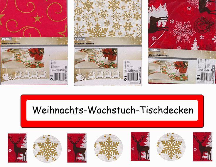 Wachstuch-Tischdecke - Weihnachten - Variantenauswahl - basteljulchen-renate